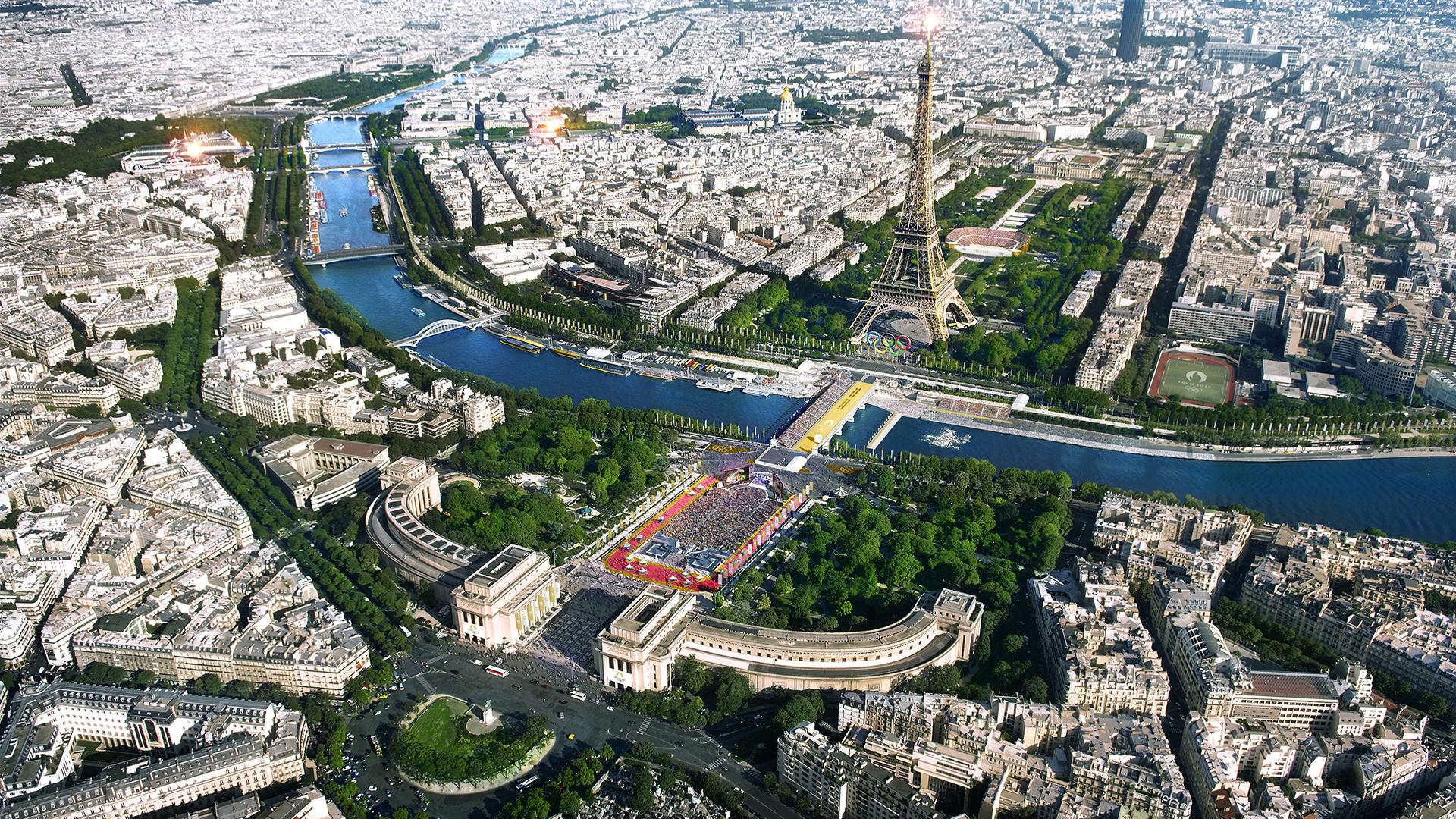 Tour Eiffel, parc olympique