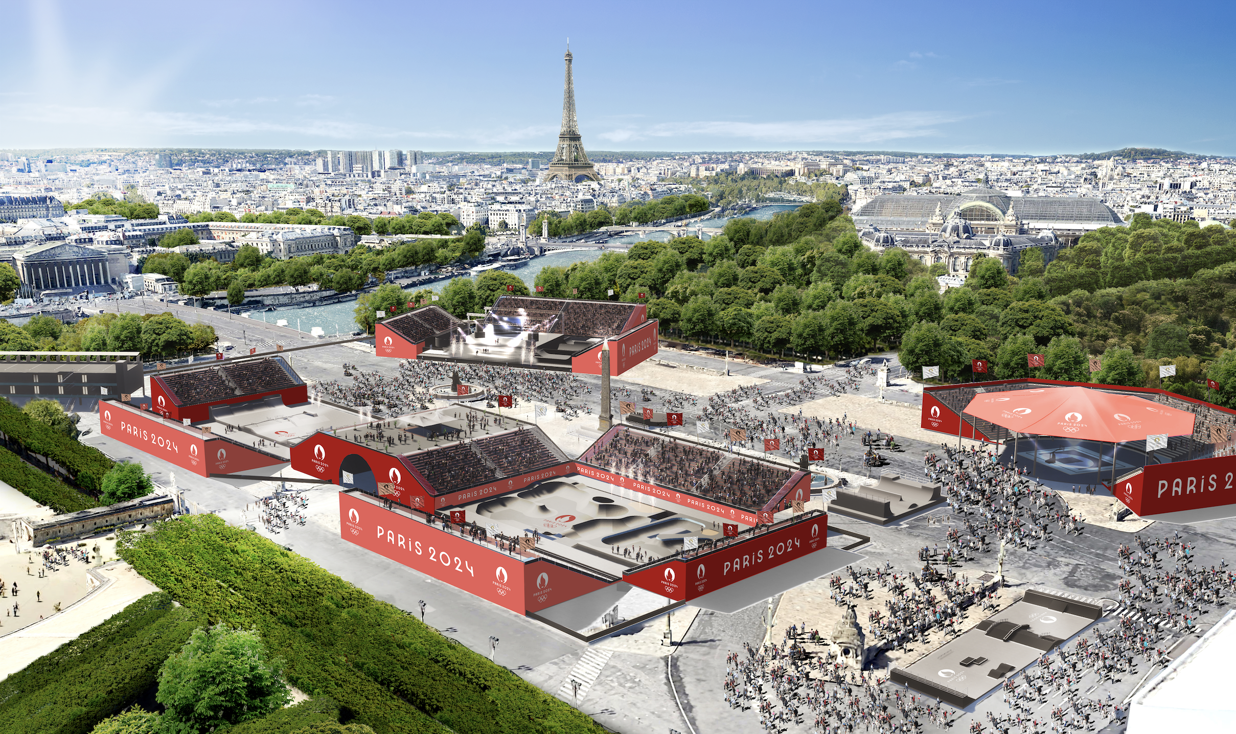 Place de la Concorde aménagée en parc urbain