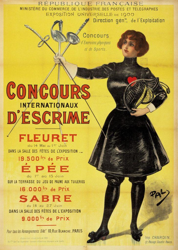 Affiche des Jeux de Paris 1900