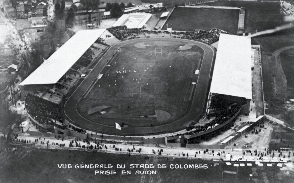 Vue aérienne du stade de Colombes