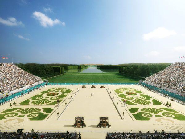 Vue de la carrière aménagée au coeur du Jardin de Versailles