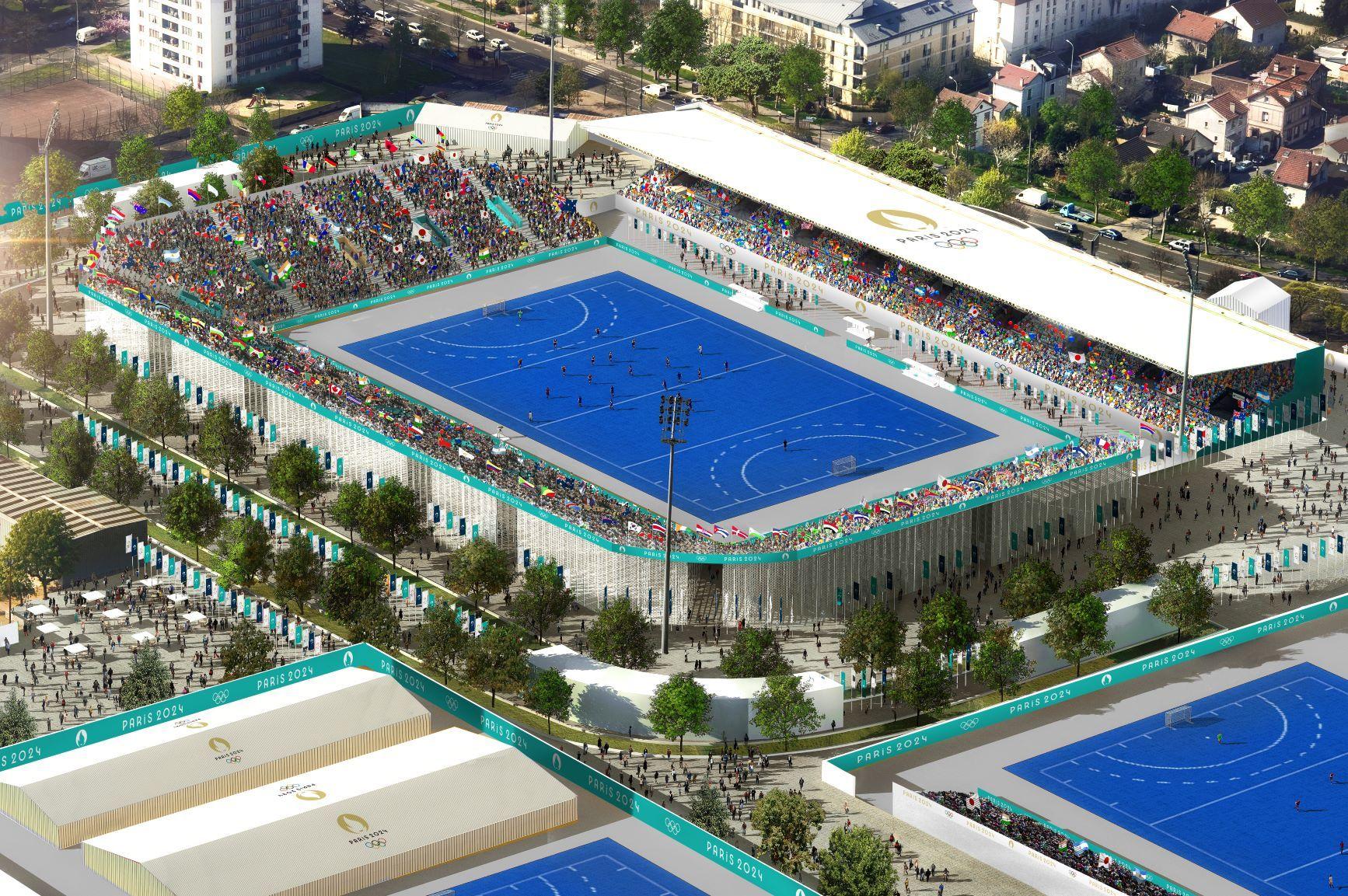 Stade Yves du Manoir, vue aérienne
