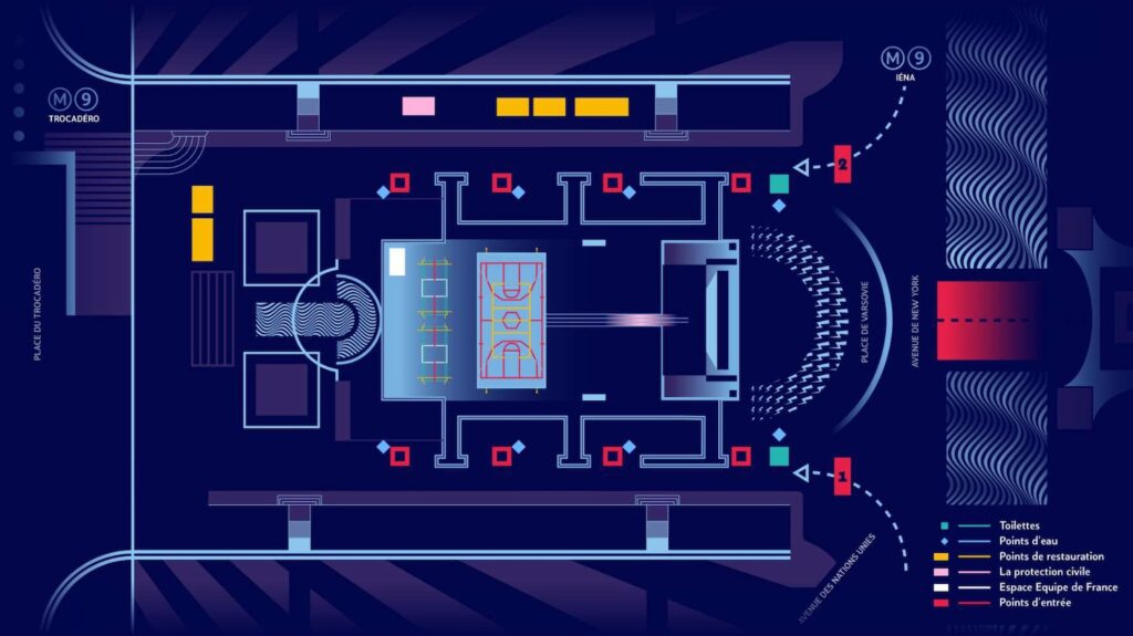 plan accès trocadero