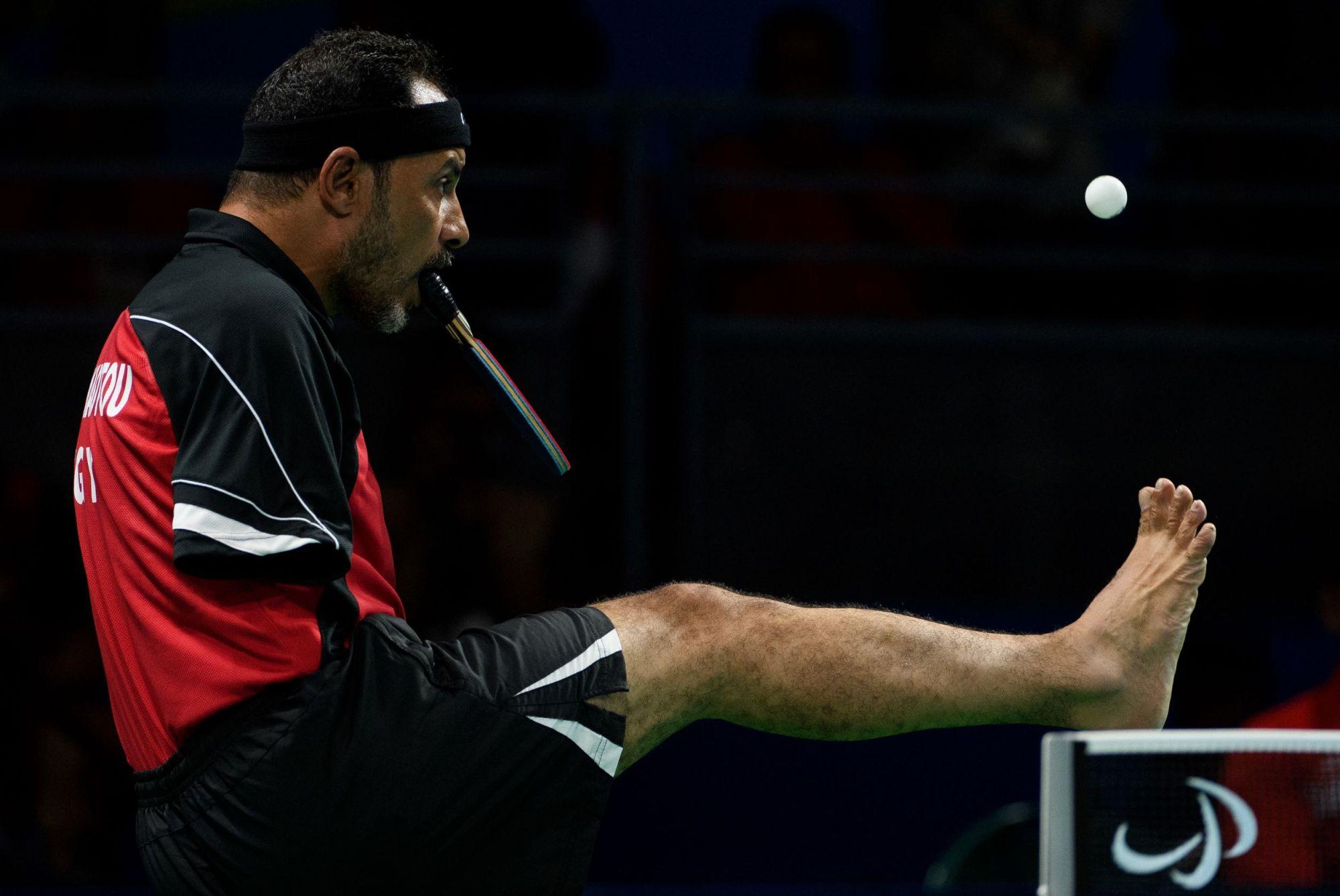 Ibrahim Hamadtou, joueur de para tennis de table